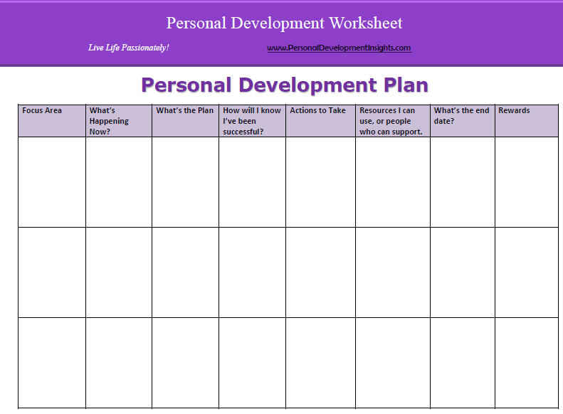 Personal Development  Pdp Templates